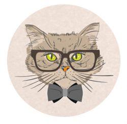 Adhesivo para lector Freestyle Libre -gato con lentes 2