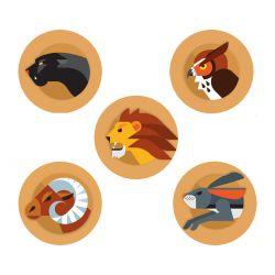 Juego de pegatinas Freestyle Libre - Animales